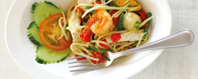 36: Spicy Green Papaya Salad